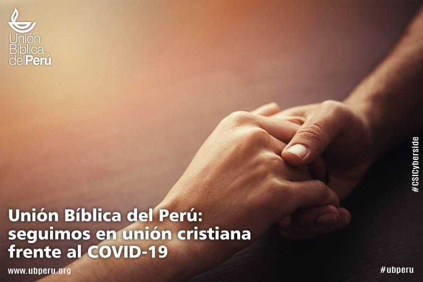 Unión Bíblica del Perú: seguimos en unión cristiana frente al COVID-19