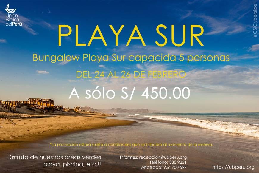 Playa Sur un fabuloso dia de descanso